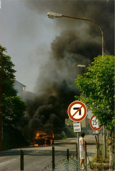 Incendio Auto a Lucrezia