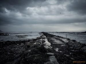 Baia Flaminia dopo la tempesta di novembre 2013