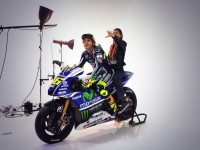 Valentino Rossi e Linda Morselli in studio