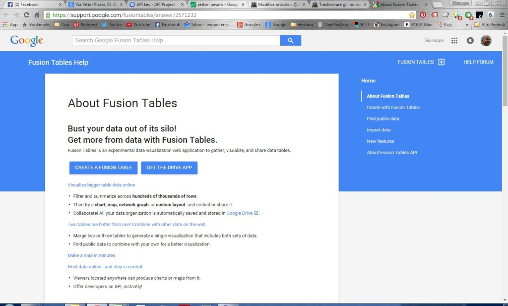 Google Fusion Tabels