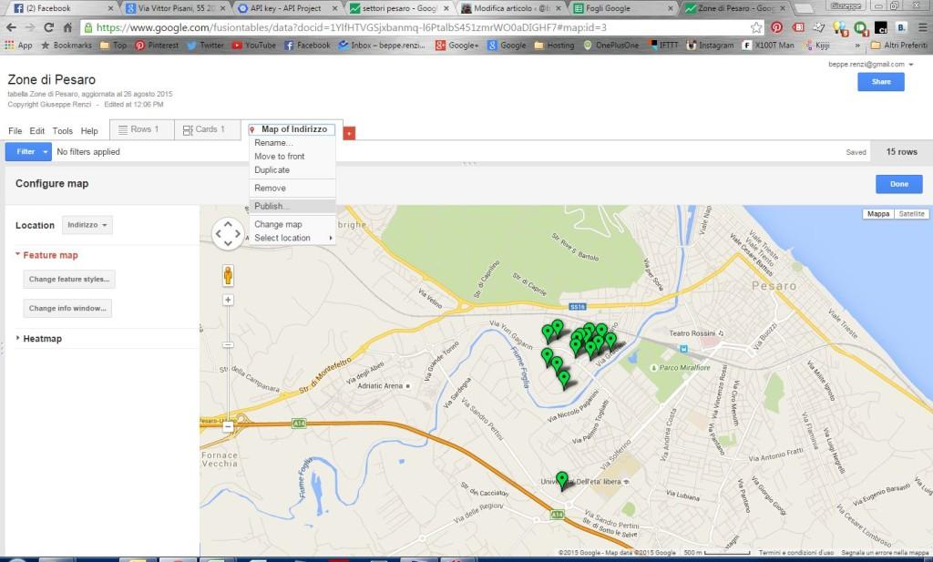publish map