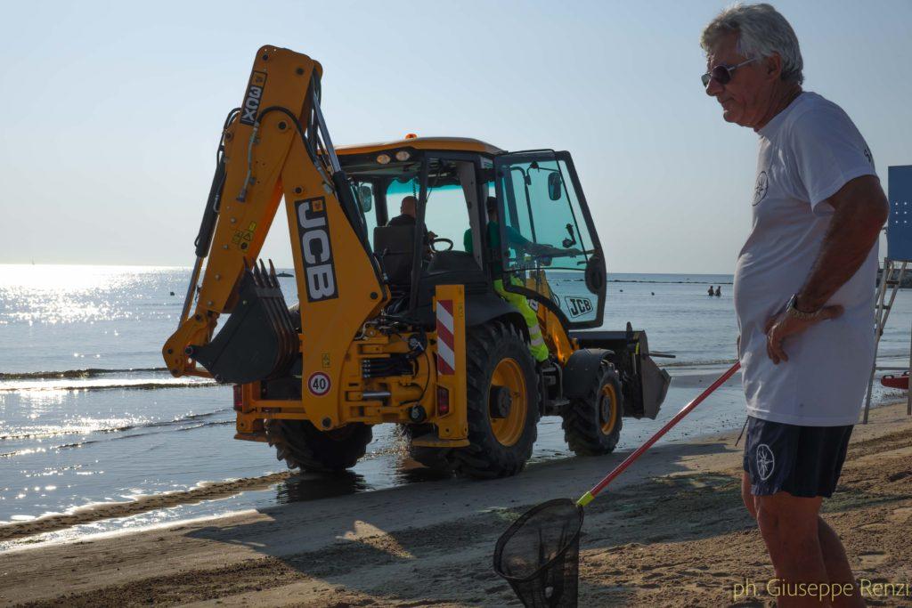 Preparazione della spiaggia